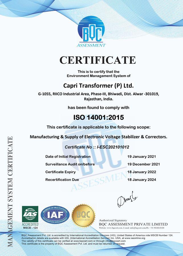 CTPL ISO 14001-2015