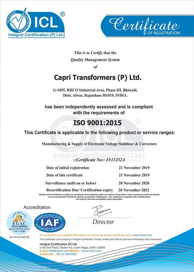 CTPL ISO 9001-2015